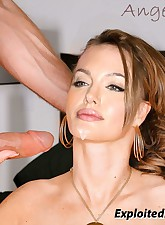 Angelina gets her tight pussy & ass fucked!